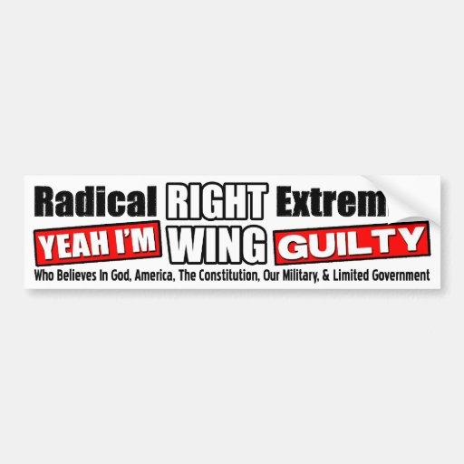 ¡Extremista de la derecha! Pegatina Para Auto