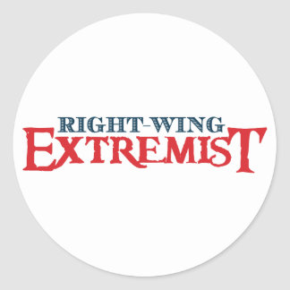 Extremista de la derecha pegatina redonda