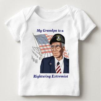 Extremista de la derecha playera de bebé