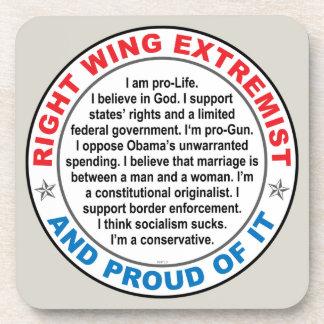 Extremista de la derecha posavasos