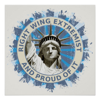 Extremista de la derecha póster