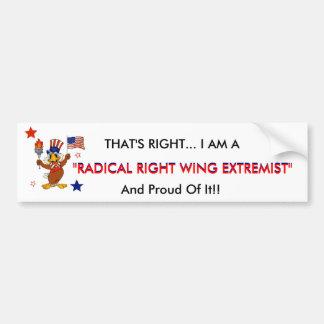 Extremista de la derecha radical etiqueta de parachoque