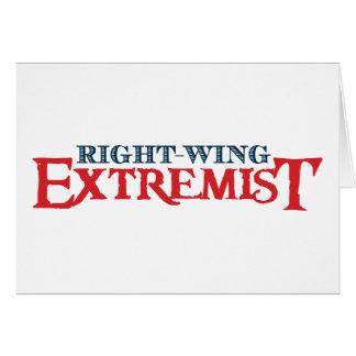 Extremista de la derecha tarjeta de felicitación