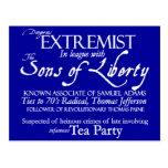 Extremista peligroso: Poster del siglo XVIII del e Tarjeta Postal