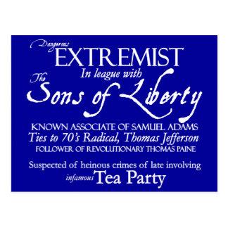 Extremista peligroso Poster del siglo XVIII del e Tarjeta Postal