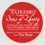 Extremista peligroso: Poster del siglo XVIII del Pegatina Redonda