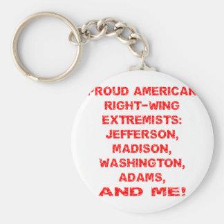 Extremistas de la derecha americanos orgullosos llavero redondo tipo pin