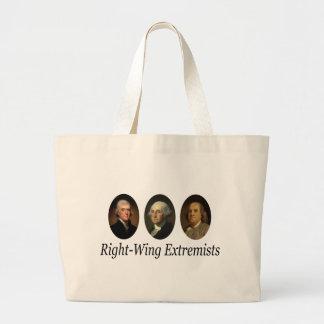 Extremistas de la derecha bolsa tela grande