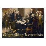 Extremistas de la derecha felicitación