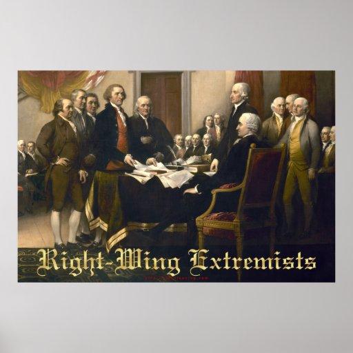 Extremistas de la derecha póster