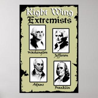 ¡Extremistas de la derecha! Póster