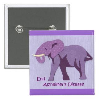 Extremo Alzheimers Pin Cuadrada 5 Cm