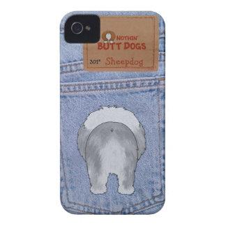 Extremo azul del perro pastor de Jean Case-Mate iPhone 4 Cárcasa