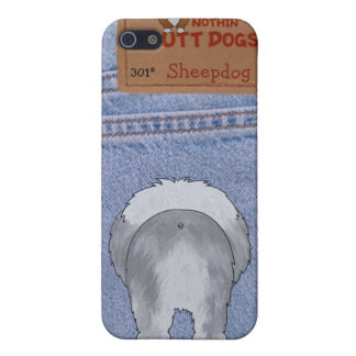 Extremo azul del perro pastor de Jean iPhone 5 Carcasa