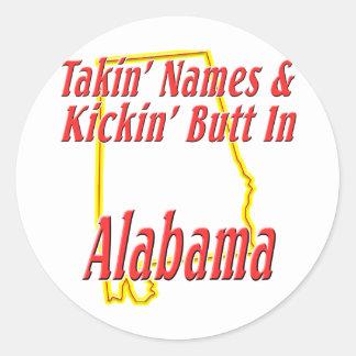 Extremo de Alabama - de Kickin Pegatinas Redondas