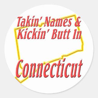 Extremo de Connecticut - de Kickin Etiquetas Redondas
