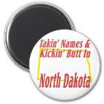 Extremo de Dakota del Norte - de Kickin Imán Redondo 5 Cm