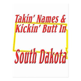 Extremo de Dakota del Sur - de Kickin Tarjetas Postales