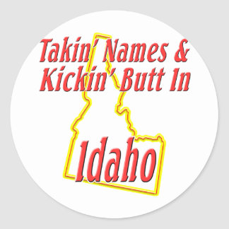 Extremo de Idaho - de Kickin Pegatina Redonda