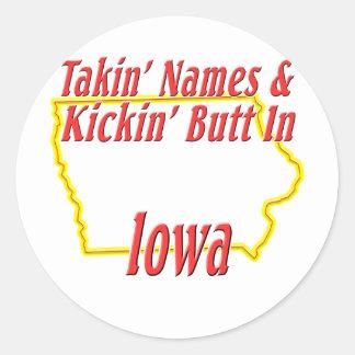 Extremo de Iowa - de Kickin Etiquetas Redondas