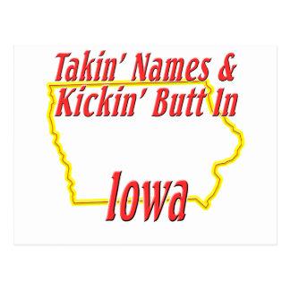 Extremo de Iowa - de Kickin Tarjeta Postal