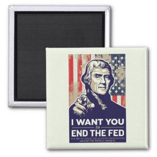 Extremo de Jefferson el FED Imán Cuadrado