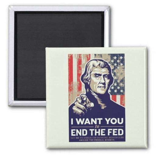 Extremo de Jefferson el FED Imán Para Frigorifico