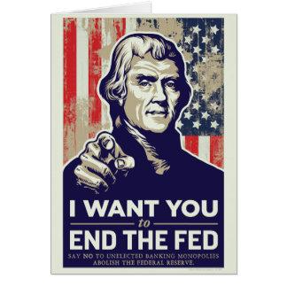 Extremo de Jefferson el FED Felicitacion