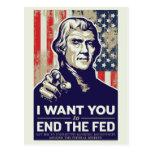Extremo de Jefferson el FED Tarjetas Postales