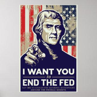 Extremo de Jefferson el poster de FED Póster