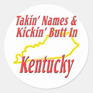 Extremo de Kentucky - de Kickin Pegatina Redonda