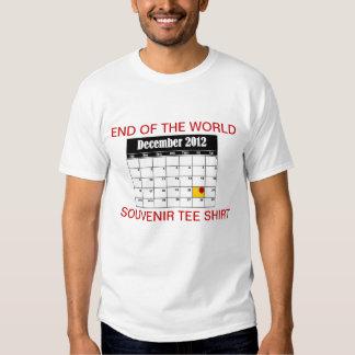 Extremo de la camiseta del recuerdo del mundo remera