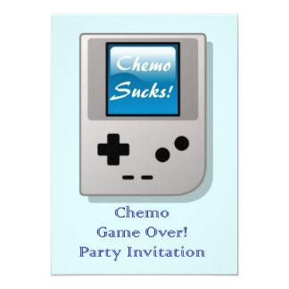 Extremo de la invitación del fiesta de Chemo para