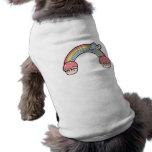 Extremo de las magdalenas del arco iris camisas de mascota