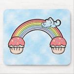 Extremo de las magdalenas del arco iris alfombrillas de raton