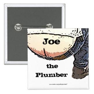 Extremo de los fontaneros… Joe el botón del Pin Cuadrado