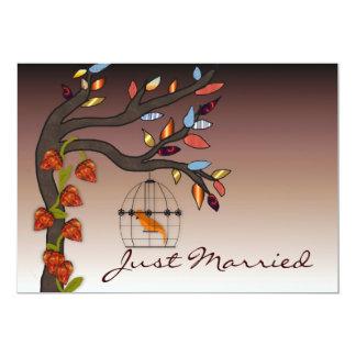 Extremo de los veranos apenas casado invitación 12,7 x 17,8 cm