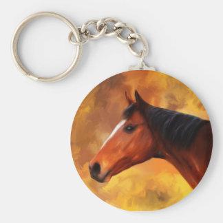 Extremo de los veranos - arte del Quarterhorse Llavero Redondo Tipo Pin