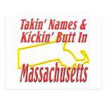 Extremo de Massachusetts - de Kickin Tarjetas Postales