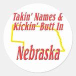 Extremo de Nebraska - de Kickin Pegatinas Redondas