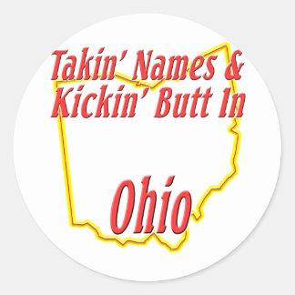 Extremo de Ohio - de Kickin Pegatina Redonda