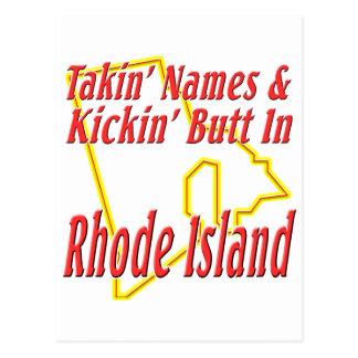 Extremo de Rhode Island - de Kickin Tarjetas Postales