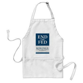 Extremo de Ron Paul la bandera de FED Delantal