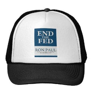 Extremo de Ron Paul la bandera de FED Gorras