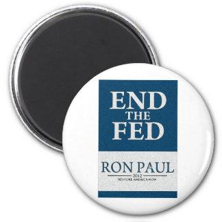 Extremo de Ron Paul la bandera de FED Imán Redondo 5 Cm