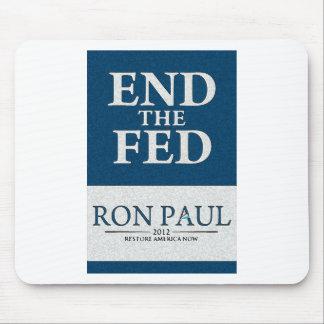 Extremo de Ron Paul la bandera de FED Mousepads