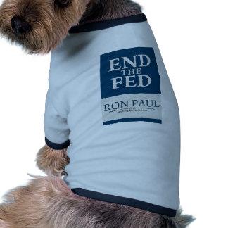 Extremo de Ron Paul la bandera de FED Camisas De Mascota
