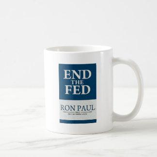 Extremo de Ron Paul la bandera de FED Taza De Café