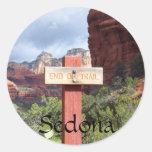Extremo de Sedona del rastro Etiquetas Redondas