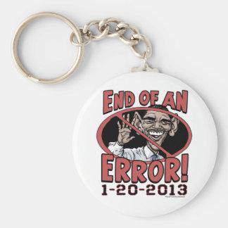 Extremo de un engranaje de Anti-Obama del error Llavero Redondo Tipo Pin